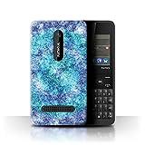 Stuff4 Phone Case for Nokia Asha 210 Teal Fashion Bokeh