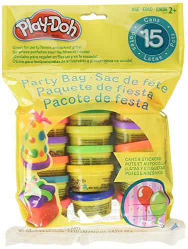 Hasbro play-doh busta per feste, include 15 confezioni di plastilina piccole, perfette come bomboniera per feste