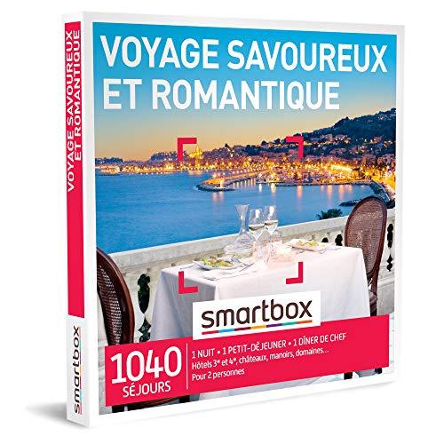 SMARTBOX - Coffret Cadeau couple - Voyage savoureux et romantique - idée cadeau -...