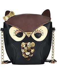 cb3ee8285c081 Rokoo Cartoon Fox-Eulen-Entwurf PU-Leder-Handtasche Schultertasche  Messenger Bag Retro
