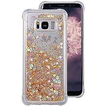 Galaxy S8Plus Liquid Custodia, Fiocco rosa 3d Fluente Liquido Bling Dinamico sabbie mobili stella Glitter Case antiscivolo Antigraffio Trasparente Silicone Cover Rigida per Samsung Galaxy S8Plus