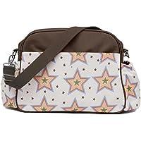 Pink Lining Rosebud estrellas bolso cambiador Bolso para pañales, color crema y marrón
