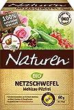 Naturen Bio Netzschwefel MehltauPilzfrei, Biologisches Spritzpulver gegenpilzlichePflanzenkrankheiten an Obst, Gemüse und Zierpflanzen, 6 x 10 g Portionsbeutel