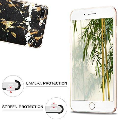 Coque iPhone 7 Plus, iPhone 7 Plus Etui , CaseLover Licorne Motif Mode Etui Coque TPU Slim pour Apple iPhone 7 Plus (5.5 pouces) Mode Flexible Souple Soft Case Couverture Housse Protection Anti rayure Marbre