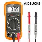 Multimetro Digitale Rilevatore di Tensione Tester Voltometro Amperometro per Misurare di Tensione AC / DC, Corrente DC, Resistenza, con retroilluminazione LCD Aidbucks MS8233B