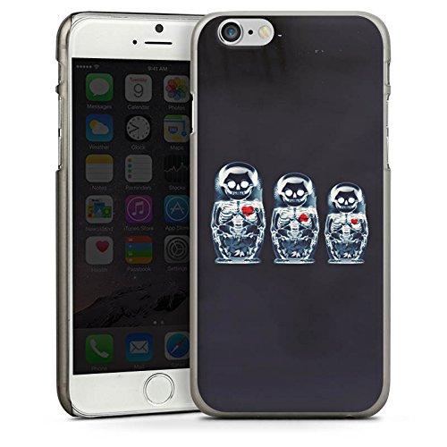 Apple iPhone 6 Housse Étui Silicone Coque Protection Os Crâne Tête de mort CasDur anthracite clair
