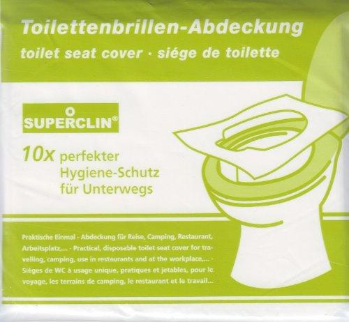 3 x 10er-Pack SUPERCLIN Toilettenbrillen-Abdeckung, WC - Brillenschutz, Hygieneauflagen, WC - Auflagen,