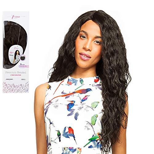 Set complet de 6 mèches + Closure Feme Collection Premium Blended – French Body – One Pack de 6 mèches pour cheveux