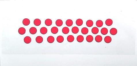 SJ COLLECTION Red Black Shade Large Round Shape Bindi Forehead Maroon Bindis(Bengali Bindi)