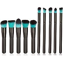 Anself - Pro Set de Brochas Muy Suave de Polvo/Fundación/Base Cosmético para Maquillaje Facial (10pcs,color opcional)