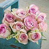 Coen Bakker Canvas Blumen Bild Leinwand Rose Lavendel Hortensie in & Outdoor Wandbild, Größe:25 x 25 cm, Motiv/Art:Rosen 3