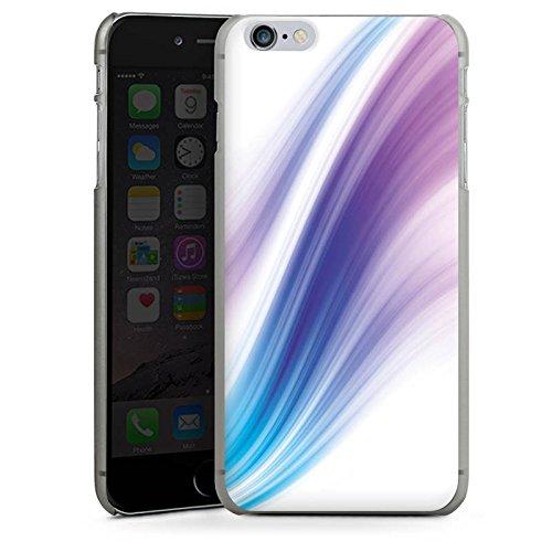 Apple iPhone 4 Housse Étui Silicone Coque Protection Pastel Brouillard Bandes CasDur anthracite clair