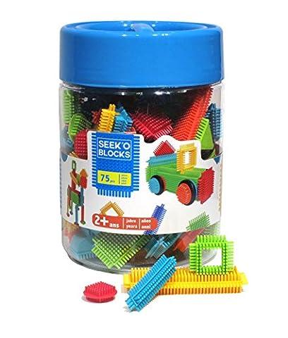 Seek'o Blocks - Jeux de construction 1er âge - Seek'o Blocks Multicolore - Baril Garçon 75 Pièces - BA3102Z