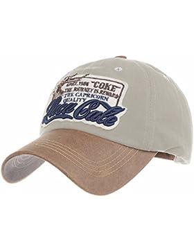WITHMOONS Gorras de béisbol Gorra de Trucker Sombrero de Baseball Cap Cotton Trucker Cap Faux Leather Brim LX1192