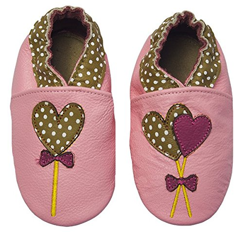 Rose   Chocolat Chaussures Bébé Polka Lolly Rose Taille 22 23 cm 12-18 ec383170a9f7