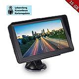 GPS Navigation für Auto, Aonerex 16GB 7 Zoll Touchscreen Navigationsgerät für LKW PKW KFZ Navi mit POI Blitzerwarnung Sprachführung Fahrspur Lebenslang Kostenloses Kartenupdate EU 52 Karten
