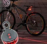 #4: New Bicycle Tail light 5 LED + 2 Laser guide for safety blue colour