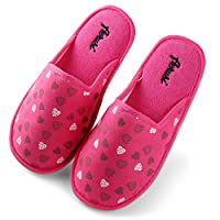 Aerusi Mellie Hearts Slipper, Hot Pink, Women's Shoe Size: 11 to 12