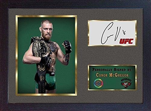 Conor McGregor UFC MMA SIGNED Autograph Sport Boxen Kuriositäten mit Rahmen