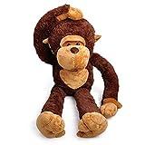 Großer Plüsch-Affe, Tier-Spielzeug, kuschelweicher Orang-Utan für Freunde, Kinder, 109 cm