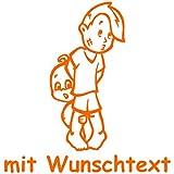 Babyaufkleber Autoaufkleber für Geschwister mit Wunschtext - Motiv G10-JJ (16 cm)