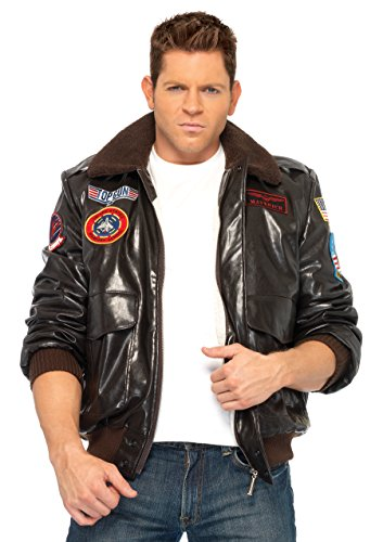 Leg Avenue Mens Top Gun Bomber Jacket Fancy Dress Costume Large