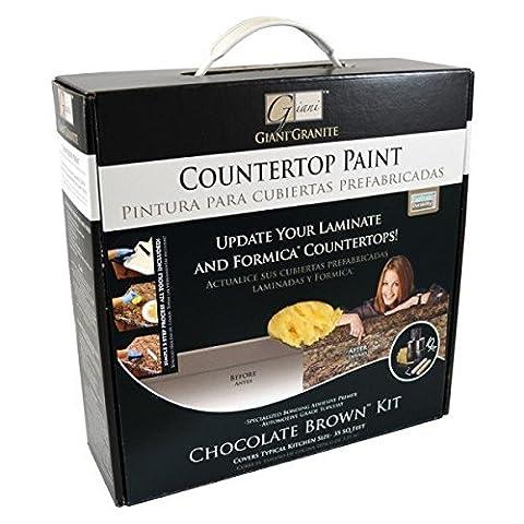 GianiTM Countertop Paint Kit, Chocolate Brown by Giani Granite