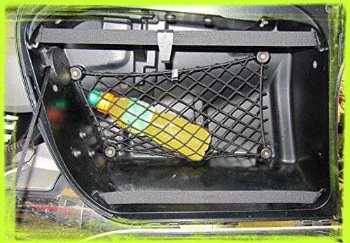 Kit composto da 2 Reti per valigie (valigia sinistra+destra) per moto BMW R 1200 R ed R 1200 RT, modelli prodotti fino al 2013.
