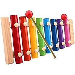 zolimx Juguetes musicales xilófono los niños, instrumento de madera del desarrollo de la sabiduría