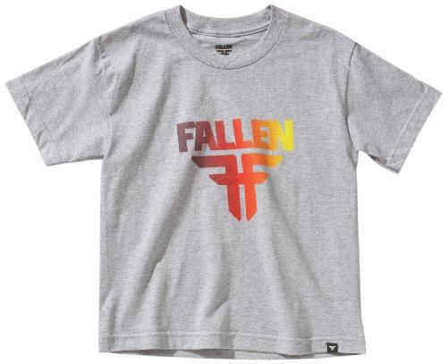 Fallen Kinder T-shirt Insignia Shortsleeve, heather grey/red fade, YL, 43090001 (Fade-jungen-t-shirt)