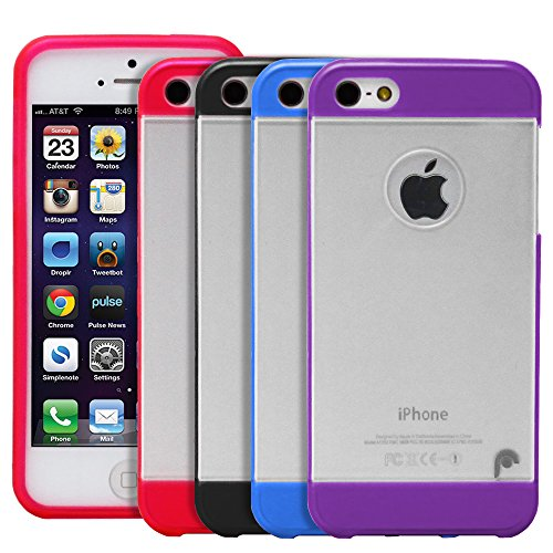 Fosmon HYBO PC + TPU Case Cover hülle für iPhone 5 / 5s / SE - Blau / Tranparent blau