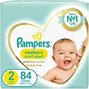 Pampers Premium Care, Size 2, Mini, 3-8 kg, Jumbo Pack, 84 Diapers