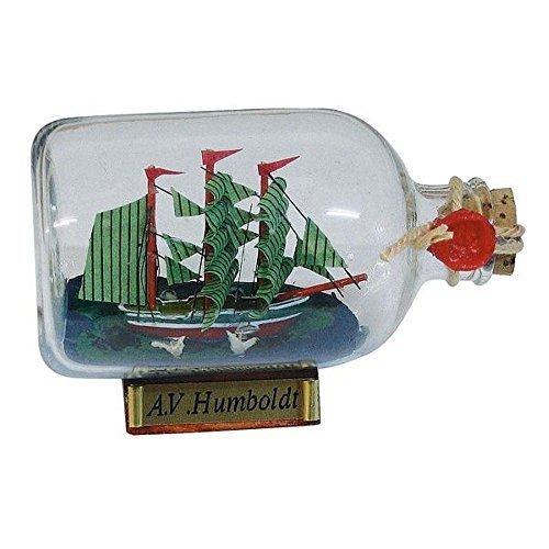 linoows Buddelschiff Alexander von Humboldt, Maritime Deko, Flaschenschiff 9 cm