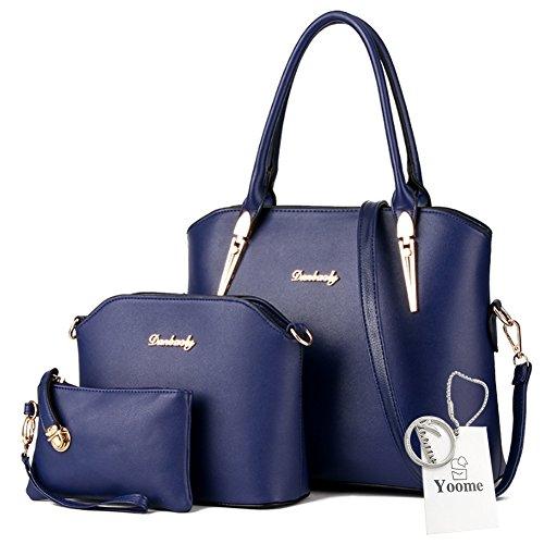 Borse a tracolla Yoome Crossbody borsa a tracolla borsa borsa borsa da trucco borse da trucco borse casual - rosa Blu scuro