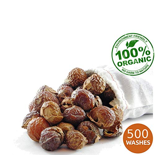 NaturalThings. Organic All Natural Laundry and Dishwashing Detergent Soap Nuts for Eco Friendly, Premium Grade, Sustainable & Green Laundry (500 Loads). Includes 5 Wash bags