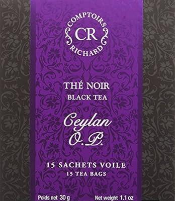 Comptoirs Richard Thé Noir Ceylan Op 15 Sachets 30 g - Lot de 2