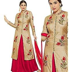 Dharmee's Women Cotton Party wear lehanga Suit (Gown for Navaratri Special Lehanga suit)