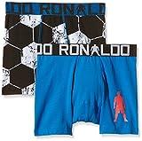 CR7 CRISTIANO RONALDO, Boxer aderenti Bambino, 2 pz., Blu (Blau/Schwarz/Weiß), 10/12 anni