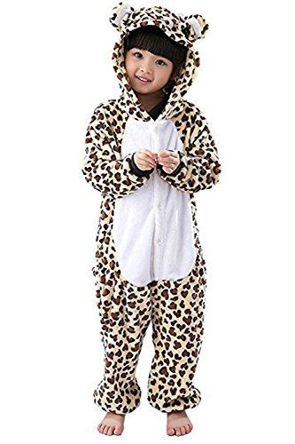Leopard Kostüm Erwachsene Tier Jumpsuits Onesie Pyjama Für Kinder (XL(Geeignet für 126cm-137cm Höhe))