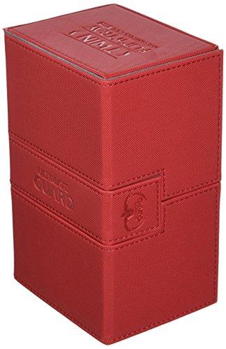 Ultimate Guard UGD010651 Twin Flip´n´Tray Deck Case, 160 Plus, Standardgröße, XenoSkin, rot (Twin Deck Case)