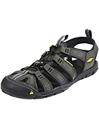 Keen Clearwater CNX Leather Sandals Men Magnet/Black Größe US 13