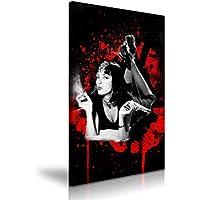 Mia Wallace Pulp Fiction Classic película lienzo pared Art imagen impresión ...