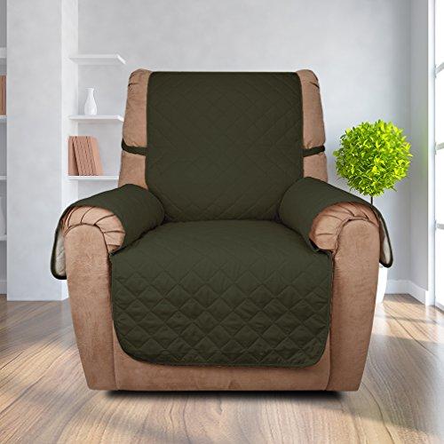 KINLO Sofa Überwurf 1 Sitzer 177x56 Grün Schonbezug 100% Baumwolle Füllung sehr weich Sofa Abdeckung Top Qualität Sesselauflage aus Polster Material Umweltschutz Sofahusse couch elastisch