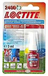LOCTITE 1960969 2400 Strength Thread Locker, 5 ml, Medium