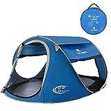 ZOMAKER, Tenda Pop up per 2-4 Persone, Tenda da Spiaggia Riparo dal Sole per Bambini con Protezione UV, Installazione Automatica e istantanea Tenda per Famiglia, Dark Blue