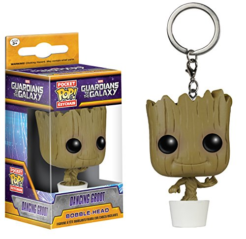 Funko Pop Llavero de Dancing Groot 4 cm Funko Pop Guardianes de la Galaxia