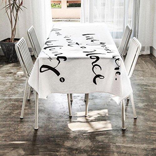 P&P Europe Et ÉTats-Unis Lin Anglais Table à Manger Table Basse Nappe De Table Blanc , 138*138cm , white