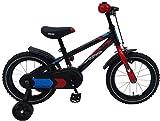 14 Zoll Fahrrad mit Rücktritt und Stützräder Kinderfahrrad Jungen schwarz 81401
