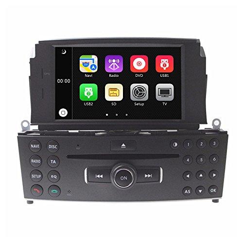 C200 Mp3 (LIKECAR 7 Zoll Autoradio 2 DIN Multimedia Sat Navi GPS DVD Navigationssystem Touch Screen für Mercedes-Benz C Klasse W204 C180, C280K, C200, C200K, C220, C280, C300, C350, C63 mit FM AM Radio)