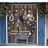 Tenrany Home Schneeflocken Fenster Aufkleber Weihnachten Fensterdeko, 190 Stück Abnehmbare Weiße Weihnachten Wandtattoo Fensteraufkleber Wandaufkleber für Fensterbilder Dekorationen Ornamente